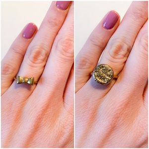 Set of 2 gold Madewell rings